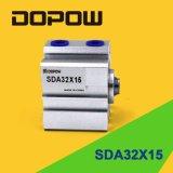 Dopow 압축 공기를 넣은 실린더 콤팩트 실린더 (SDA32-15)