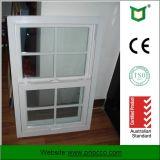 La finestra di scivolamento verticale di apertura, di alluminio sceglie la finestra appesa