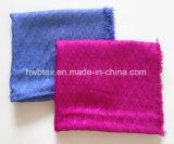 Écharpe visqueuse d'infini de jacquard ordinaire classique de couleur (HWBV10)