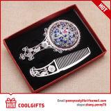 Espejo cosmético de la maneta al por mayor con el peine fijado para el regalo de boda