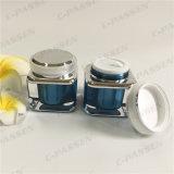 Vaso crema acrilico Blue-Black del quadrato 30g per l'imballaggio dell'estetica (PPC-ACJ-079)