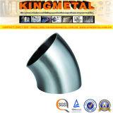 long type ajustage de précision du coude 3A 45 de pipe sanitaire inoxidable