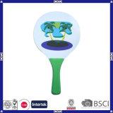Jogo de madeira colorido da raquete da praia do tamanho padrão