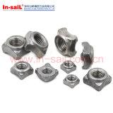 DIN 928 탄소 강철 사각 용접 견과