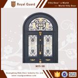 Diseño modificado para requisitos particulares del precio de fábrica capaz de puerta de la aleación de aluminio de la puerta de entrada del chalet de la puerta de la prueba del hurto