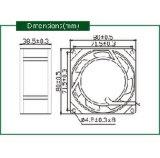 Axialer Ventilator Wechselstrom-220V für Bildschirmanzeige