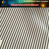 Tela teñida hilado barato de la guarnición del juego de la raya de la tela cruzada del poliester (S187.188)