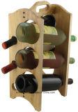 Cremagliera di legno del vino delle 6 bottiglie per la decorazione della barra di immagazzinamento in e del partito la bottiglia di vino