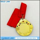 熱い販売の金メダルのカスタムダイヤモンドの金属メダル記念品の硬貨