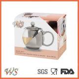 Wschmy045 het de Zilveren Thee van de Pot van de Thee van het Verkoperen van de Pot van de Thee van de Kleur & Hulpmiddel van de Koffie