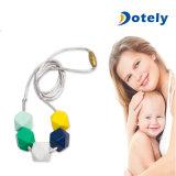 De baby kauwt Halsband voor het Tandjes krijgen van de Baby van de Leeftijd