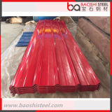 Hoja de acero acanalada del material para techos de la calidad primera de los materiales de construcción