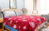 Superweiche 2017 Polyester 100% gedruckte Sherpa Vliesthrow-/Baby-Zudecke-Rote Schneeflocke