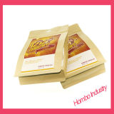 Bolsa de papel de aluminio de Kraft del soporte del diseño modificado para requisitos particulares para arriba la bolsa de la cremallera para los granos de café, tuercas, empaquetado del té