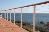 Het Traliewerk van de Leuning van de Balustrade van het roestvrij staal voor het Openlucht Schermen van het Balkon/van de Draad