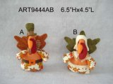 Happy Harvest Boy and Girl Turkey-2astst