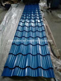 PPGI acanalado galvanizado cubierto color para la hoja del material para techos