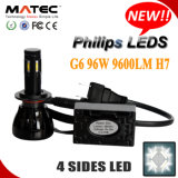 High Lumen 9600lm Philips 6000k G6 Car H7 LED Headlight