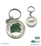 Trousseau de clés en alliage de zinc d'émail mol de logo de tête pour le cadeau de mariage
