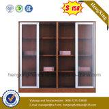 Classeur en bois de bibliothèque de bureau de portes en verre de qualité (HX-4FL003)