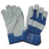 Lederne Arbeitskräfte der Sicherheits-En388, die Handschuhe mit gummierter Stulpe Arbeits sind