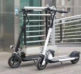 """2 rodas que conduzem a bicicleta do """"trotinette"""" elétrica"""