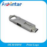 USB3.0 OTG 전화 기억 장치 섬광 금속 회전대 USB 지팡이