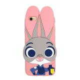 cassa del silicone del telefono mobile di Judy del coniglio del fumetto 3D per il iPhone