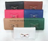 Повелительница Бумажник PU декора Bowknot металла многофункциональная кожаный (TH3008)