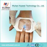 Limpeza transparente médica da fixação da cânula IV