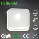 正方形IP64 12Wは曲げられた耐湿性の性質白いLED Ceilinglightを滑らかにする