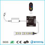 18A controlador sem fio do RGB do toque da C.C. 12V/24V RF para 5050/3528 de tira do diodo emissor de luz do RGB