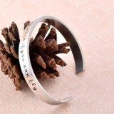 Bracelet de femmes personnalisé par blanc polonais élevé de bracelet de manchette du bracelet 50mm d'acier inoxydable de la qualité 316L (IJB0509)