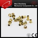금관 악기 구렁 M4 금 대중 음악 리베트를 가진 기계설비 제품 DIN7340 관 리베트