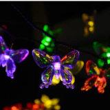 Luz solar bonita 4.8m 20LED do pendente da borboleta para a decoração do festival