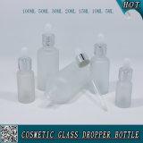 Bereifte flüssige Tropfenzähler-Flasche des Glas-E mit kindersicherer Schutzkappe