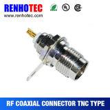 Cable femenino RG58/RG59/RG6 del prensado del conector coaxial de TNC