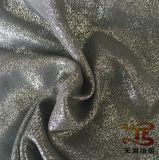 Tela Foiling do poliéster da tela do vestuário do carimbo de ouro para o vestido das mulheres
