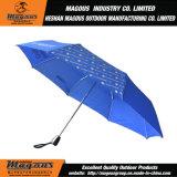 liga automática cheia de 21inch 3fold que anuncia o guarda-chuva