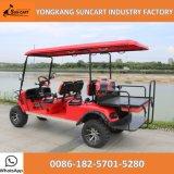 Carro de golf vendedor caliente de Seater del rojo 6, carro de golf eléctrico para la venta, buscando el carro de golf con el asiento plegable trasero