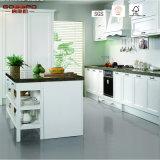 Gabinete de cozinha personalizado da madeira contínua da cereja do estilo (GSP5-041)