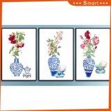 Обрамленная оптовая продажа произведения искысства цветет холстина крася 3 панели