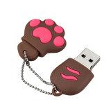 Presente bonito da vara da memória da movimentação do flash do USB 2GB da pata do gato