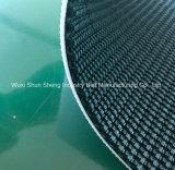 Bande de conveyeur rugueuse à faible bruit de PVC de tissu de 2 plis