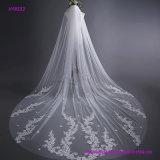 Тип длиннего кабеля вуали венчания шнурка невесты 3 метра Bridal вуали с гребнем волос