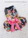 Vestito convenzionale reale dall'animale domestico di Bowtie delle bande di stampa poco costosa dei fiori