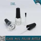 5ml vident la bouteille cosmétique en verre de balai de vernis à ongles