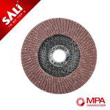 5 pulgadas 125 milímetros de la arena 60 de la solapa del disco de forro de la fibra de vidrio