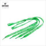 Cordón colorido plano modificado para requisitos particulares de la sublimación del cordón de zapato del tubo