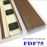 Accesorios del suelo del PVC que bordean para los suelos de madera